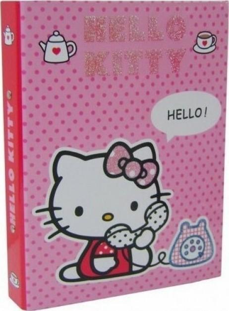 Κλασέρ 2 κρίκοι Hello Kitty Phone Ροζ Graffiti 14809