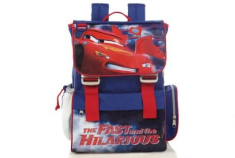 Σχολική τσάντα δημοτικού Cars σε μπλε χρώμα