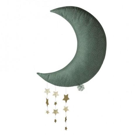 Υφασμάτινο Κρεμαστό Διακοσμητικό Γκρι Φεγγάρι 45 εκ Picca LouLou 25.040.003