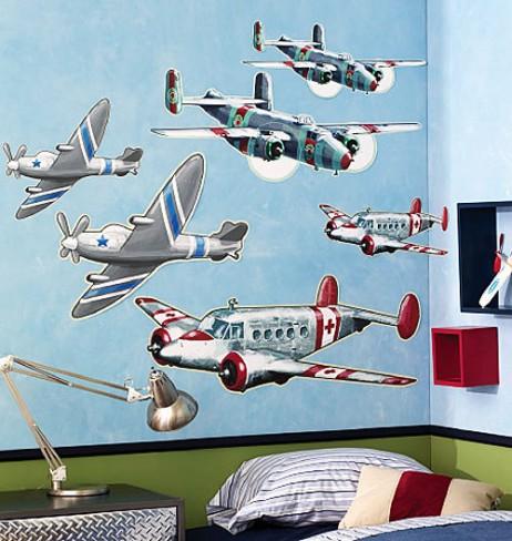 Χαλκομανίες Τοίχου Αεροπλάνα Wallies 15201