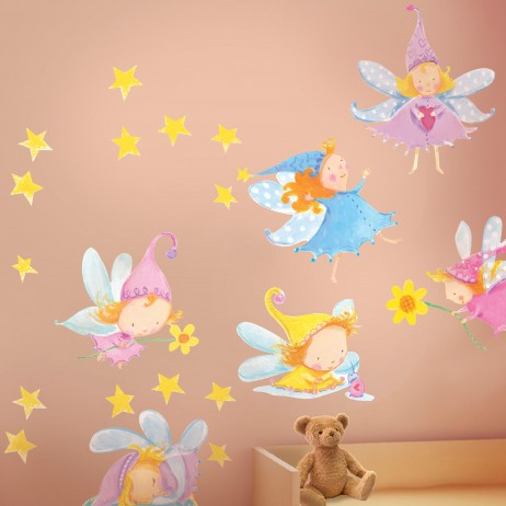 Αυτοκόλλητα Τοίχου Cute Fairies Wallies 10156