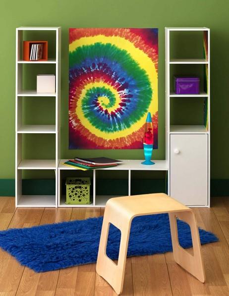 Αυτοκόλλητο Τοίχου Tie Dye 99,70 x 68,58 εκ. Wallies 13478